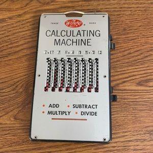 Wizard Vintage Calculating Machine